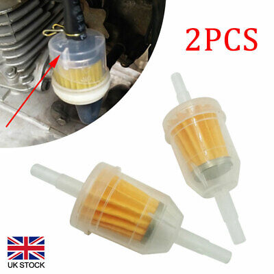 2Pcs Universal Petrol Inline Fuel Filter Dirt Motorcycle Part Fit 6mm 8mm Pipes