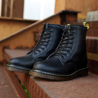 - Fashion men boots winter military black boots men shoes leather Mid-Calf Lace-Up