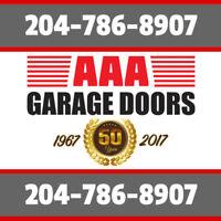 AAA Garage Doors, Over 50 Years Experience, Call 204-786-8907!