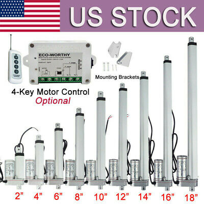 2-18 Inch Linear Actuator 1500n330lbs Electric Motor Dc12v Auto Lift Sofa Bed