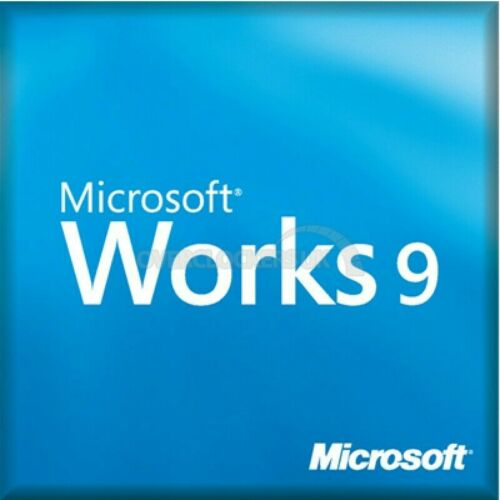 MICROSOFT WORKS 9 FULL VERSION INSTALL DISC ONLY FOR WINDOWS
