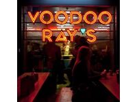 Front of House Duty Manager for our Voodoo Ray's Boxpark, Shoreditch site