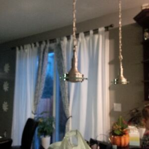Multiple Brushed Stainless and Glass Light Fixtures Cambridge Kitchener Area image 4