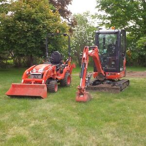Mini Excavator and Compact Loader/Backhoe Services