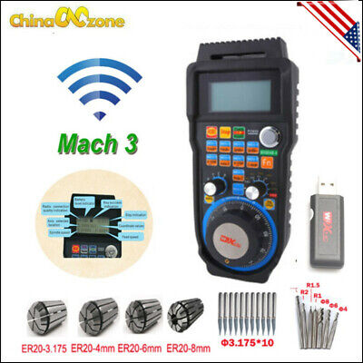 Mach3 6 Axis Handwheel Wireless Handheld Electronic Controller For Cnc Machine