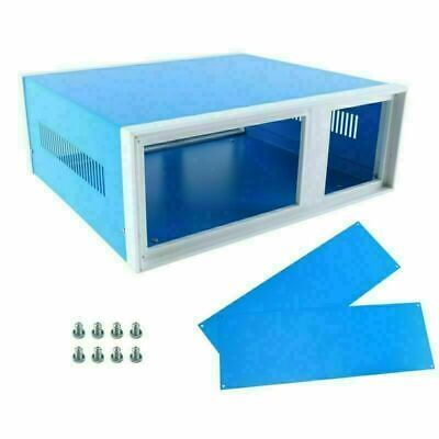 New 310285115mm Blue Metal Enclosure Project Case Diy Junction Box Us