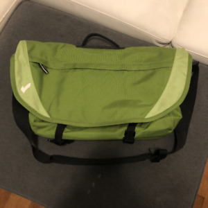 Messenger Bag. Holds LARGE Laptop in Dedicated Compartment.