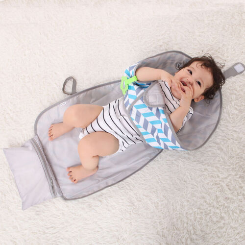 3-IN-1 Baby Changing Pad Foldable Waterproof Clean Hands Clu