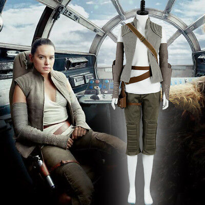 Star Wars 8 The Last Jedi Rey Outfit Cosplay Kostüm (Rey Star Wars Cosplay Kostüm)