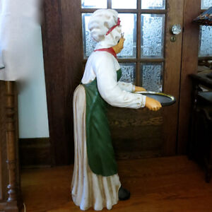 "40"" Tall Statue Restaurant Bar Butler Lady Maid & Serving Tray Kitchener / Waterloo Kitchener Area image 2"