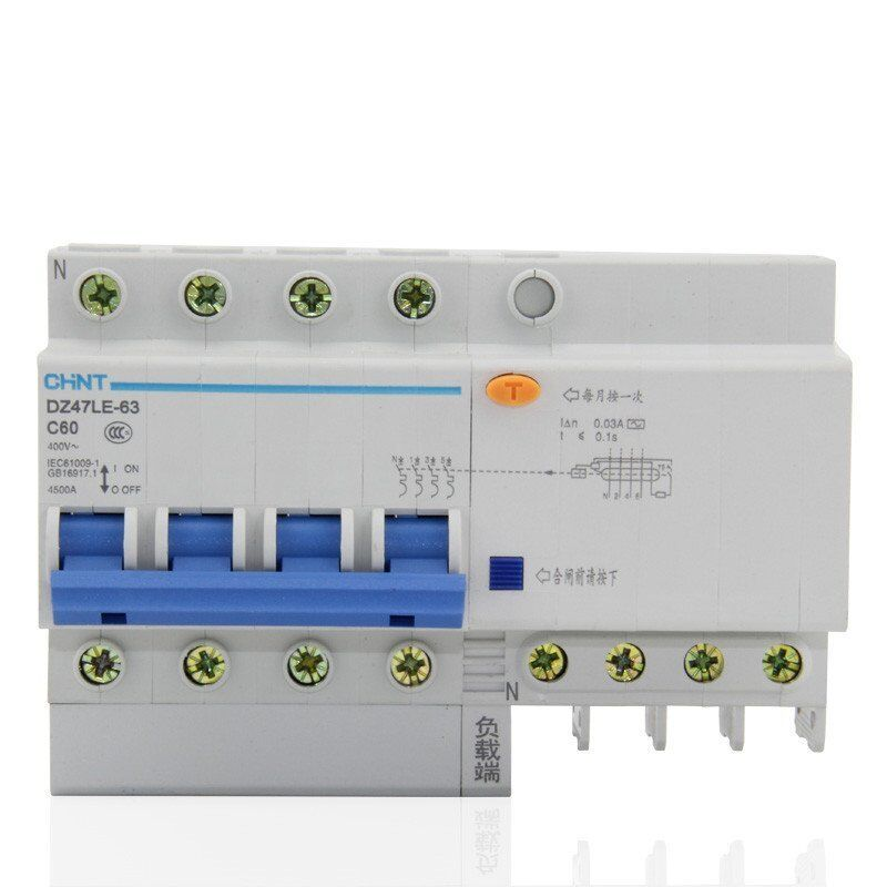 60Amp 30mA 4Pole RCD/RCCB  Residual Current  Circuit Breaker CHINT DZ47LE-32