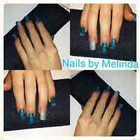 Full set of acrylic nails