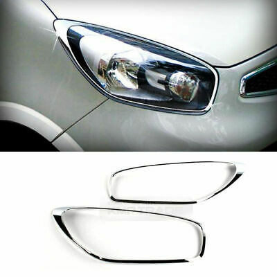 Head Lights Lamp 3D Eyebrow Line Molding Painted UD For 08 10 Kia Picanto