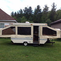 12' palamino filly tent trailer