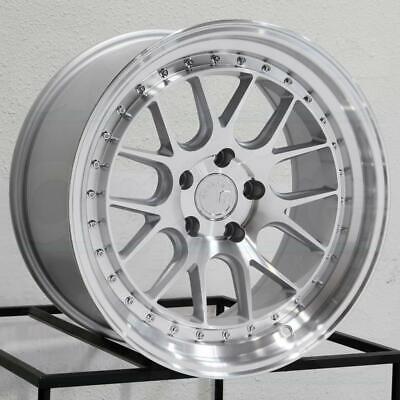 18x8.5 Silver Wheels Aodhan DS06 5x100 +35 Rims Fit VW Jetta Golf 18 Inch Set 4
