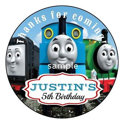 Thomas Train Party (THOMAS Tank Engine TRAIN Birthday Party Favor Personalized Round Labels)