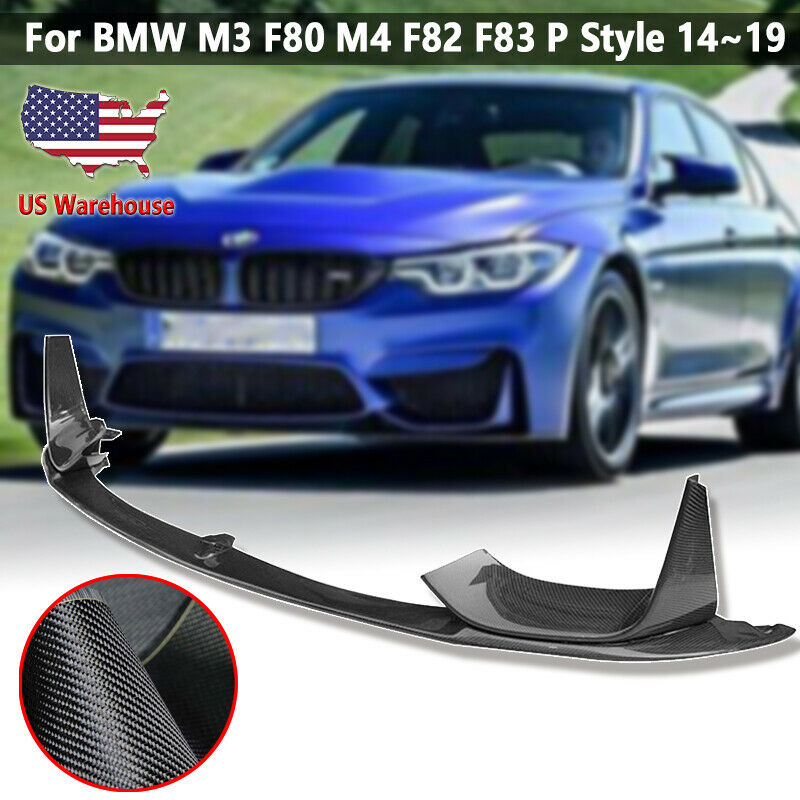 Car Front Bumper Lip Chin Spoiler Side Removable For BMW