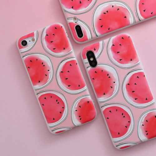 Shockproof Slim Soft TPU Matte Floral Pattern Cover Case For iPhone X 8 6 7 Plus