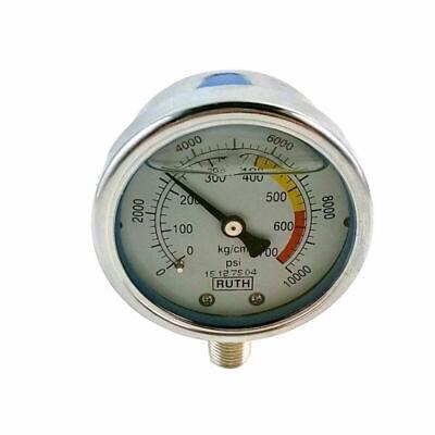 New 2.4 60mm Hydraulic Pressure Gauge Meter 700kg 10000psi