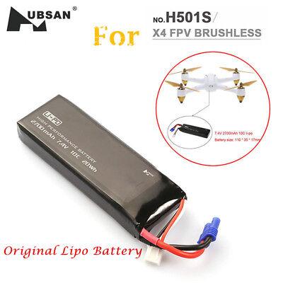 Hubsan 7.4V 2700mAh 10C Lipo Battery of X4 FPV RC Quadcopter H501S/H501C (in - 4 2700mah Batteries