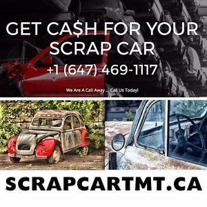 We buy scrap car  call at 647 469 1117