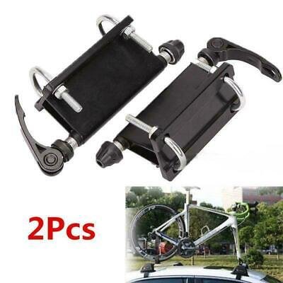 2 Pack of Bicycle Fork Wheel Alloy QR Mounts Pickup Truck Bed Mount Rack Carrier