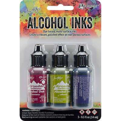 Tim Holtz Alcohol Ink .5oz 3/Pkg Farmers Market-Cranberry/Lettuce/Eggplnt NEW #5