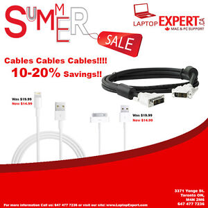 SUMMER SAVINGS WITH LAPTOP EXPERT iPhone Cables!!!!!