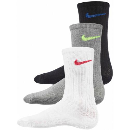 Nike Kids Socks (3 Pair) Size M Youth 5Y-7Y Everday Cushioned Crew Multi SX6842
