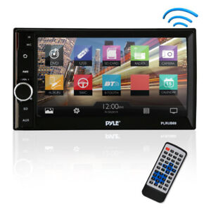 "Pyle (PLRUB69) 6.5"" double DIN car receiver w/ BT (NEW) $149.99"