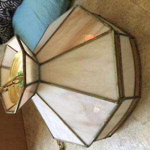 Vintage glass hanging lamp