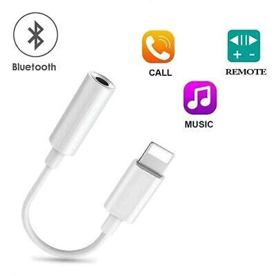 Bluetooth Lightning to 3.5mm Headphone Jack AUX Adapter Cable For iPhone 11 X 8