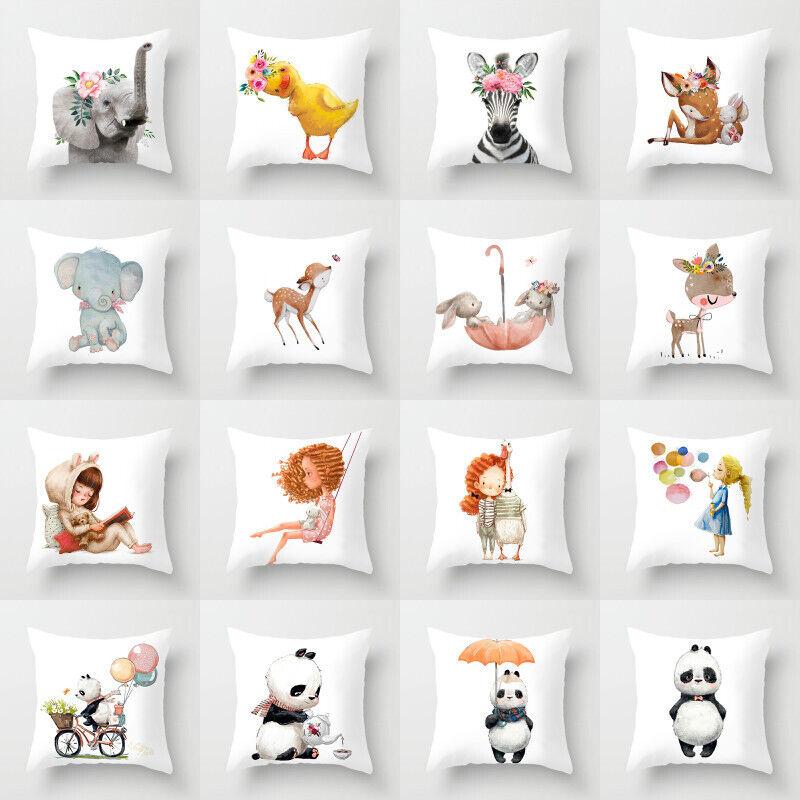 Artificial Baby throw pillows case for sofa official cushion
