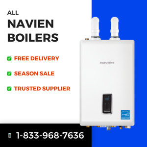 NAVIEN BOILERS (NEW) - best prices, free delivery, contact now