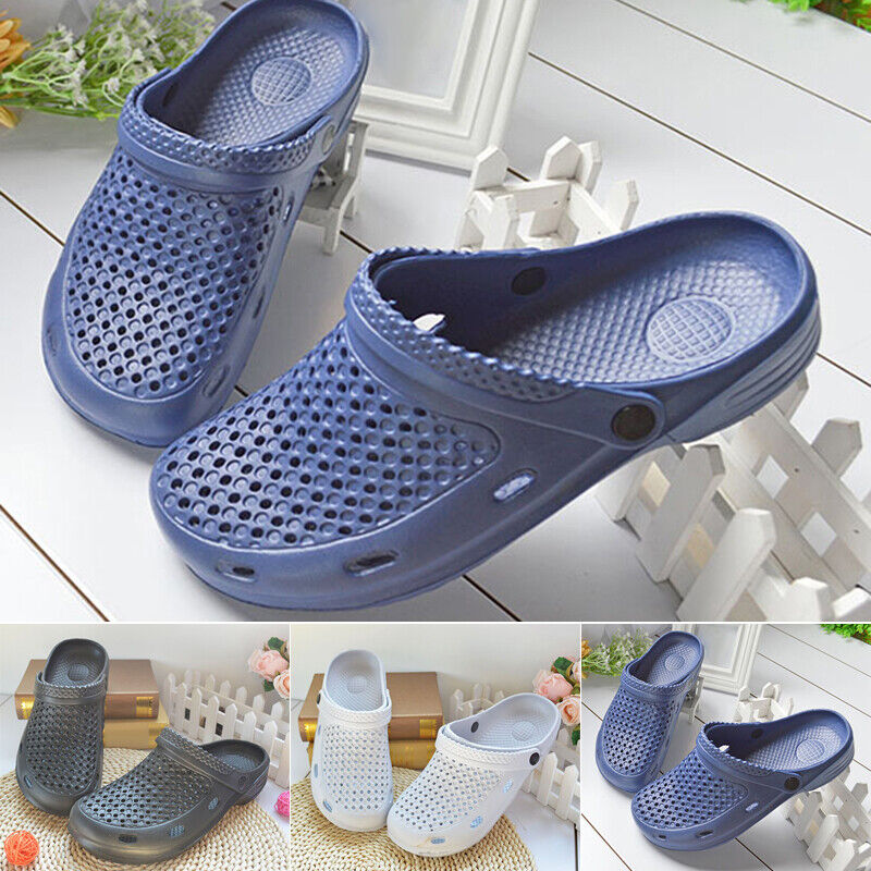 Men's Slippers Non Slip Clogs Stylish Slippers Close Toe Slingback Hollow Out