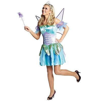 IAL Damen Kostüm Fasching Karneval Halloween Sexy Elfe - Blaue Halloween Kostüme