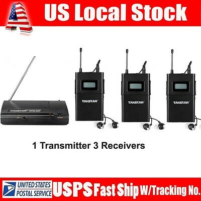 Takstar WPM-200 In-Ear Stereo Wireless Monitor System 1 Transmitter+3 Receivers