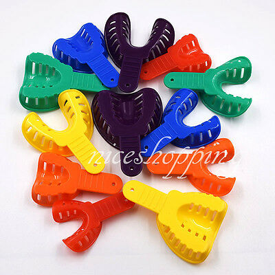 12 Pcsset Dental Impression Tray Trays Plastic 6 Sizes Autoclavable Adultchild