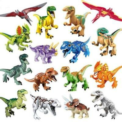16Pcs Lego Jurassic World 2 Fallen Kingdom Indominus Rex Tyrannosaurus Dinosaurs