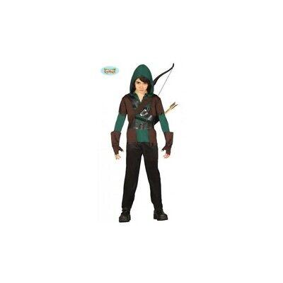 85706 - Costume Arcere Robin Hood Harrow Bambino 10/12 Anni Travestimenti Carnev