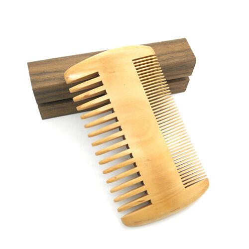 Double Sided Peach Wood Beard Comb Fine Tooth Hair Care Anti