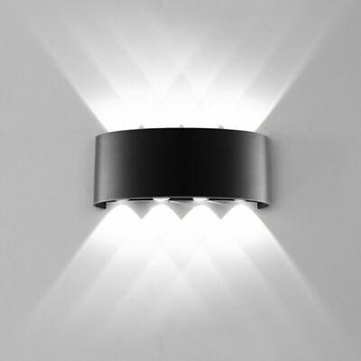 LED Wall Lamp 8W 86V-265V Sconce White 6500K Aluminum Up Down Wall Light 8W