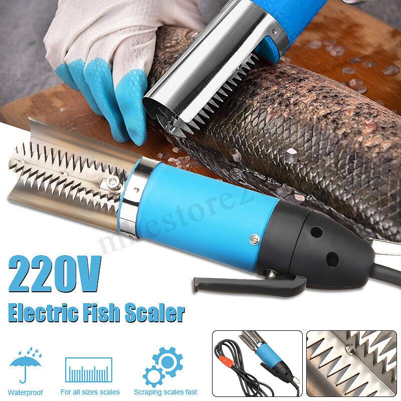 Electric Waterproof Fish Scaler Stainless Steel Clean Scales Remover Scraper