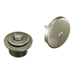 Moen T90331BN Tub and Shower Drain Cover, Brushed Nickel Pop Up