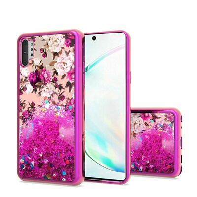 For Samsung Galaxy Note 10 Plus Hot Pink Flower Hard Hybrid Case Cover Hot Pink Hard Case Cover