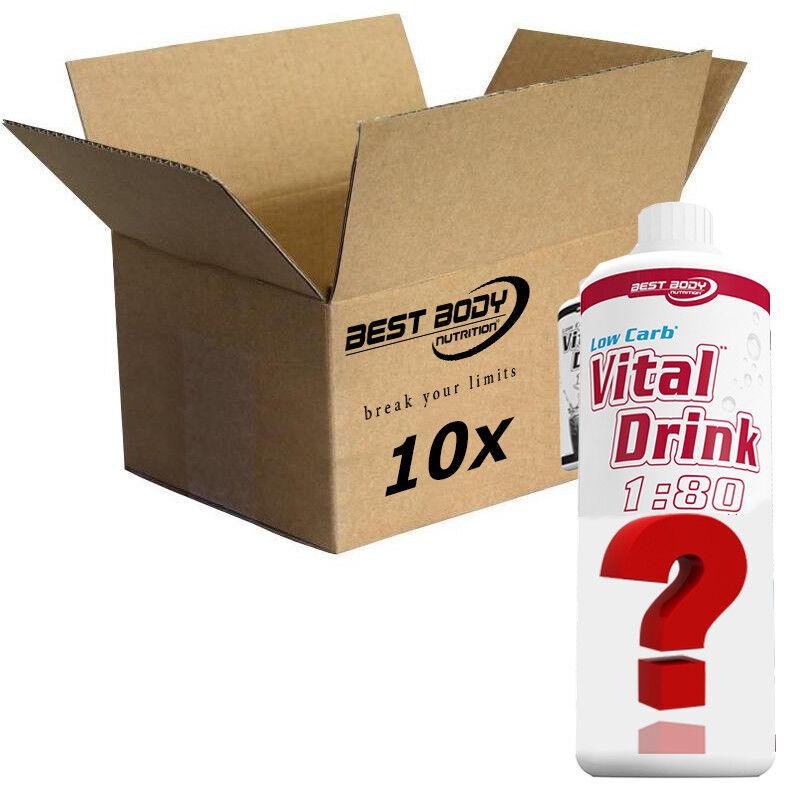 10 x Best Body Nutrition kalorienarmer Vital Drink Mineraldrink Fitness Auswahl