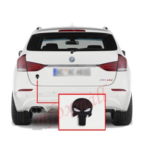 Auto Parts Black 3D Emblem Badge Decal Sticker Skull Heads CrossBones Logo Trim