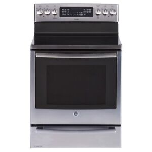 STOVE GE PROFILE SMOOTHTOP CONVECTION SLATE OR STAINLESS STEEL
