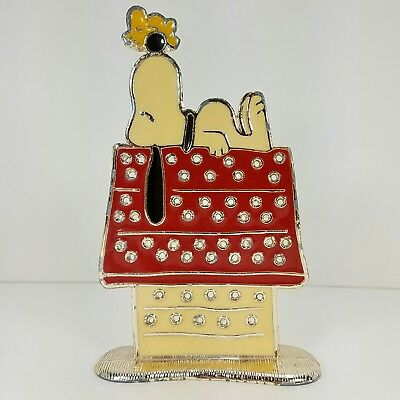 """Snoopy Peanuts Doghouse Metal Earring Tree Holder Stand Woodstock 5"""" x 3"""" x 1"""""""