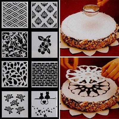 (Various Floral Cake Stencil Cookie Fondant Baking Sugarcraft Tool Wedding Decor)